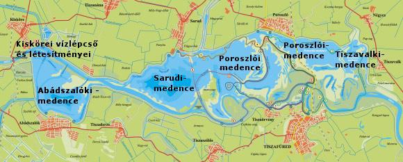 tisza-tó térkép